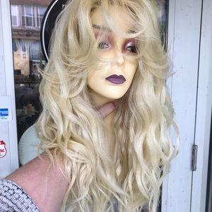 Accessories - Blonde 613 Wig 6X6 Freepart 2018 Long Wavy wig New